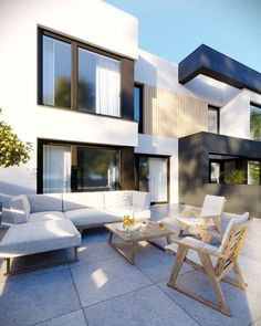 DOM.PL™ - Projekt domu CPT HomeKONCEPT-52 B2 CE - DOM CP1-63 - gotowy koszt budowy Outdoor Sectional, Sectional Sofa, Outdoor Furniture Sets, Outdoor Decor, Mansions, Architecture, House Styles, Home Decor, Gardening