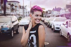 From @lisacimorelli 💕 Cimorelli, Lisa, Pixie Hairstyles, Purple Hair, Videos, Hair Makeup, Chic, Hair Styles, Instagram Posts