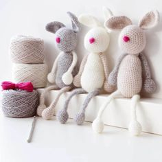 Luxury Bunny Family Amigurumi Crochet Kit
