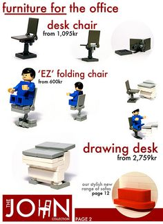 The JOHN Collection Lego office furniture