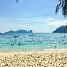Perfect view of Maya Bay from Long Beach - #travelblogger #blogginggals #kohphiphi  I heard a lot of bad things about Koh Phi Phi and almost talked myself out of visiting had my other half not insist we try it for ourselves. Yes it's full of disrespectful party animals and singletons looking for a good time. The main town is also VERY westernised and full of Irish bars and none Thai establishments but take yourself out of this touristic area and there are some beautiful beaches families…