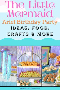 Under the sea, under the sea! Guess the theme? You got it, The Little Mermaid! Get planning for that birthday party with this Little Mermaid Ariel birthday party guide! From party decorations, fun crafts, easy party food ideas and more, everything you need is in this party cheatsheet! Check out the blog for more details on this Little Mermaid Ariel birthday party planning guide! Your loved one will surely love this Disney themed party idea! #disneybirthdayparty #partyideas #birthdayplanning