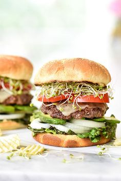 California-Style Bison Burgers...What's the best bun for Bison? Martin's Potato Rolls?