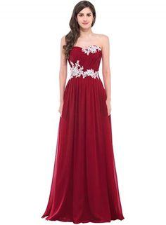 #Oasap.com - #Roawe Women's Strapless Evening Prom Dress with Appliques - AdoreWe.com
