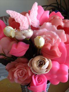 Balerin temalı doğum günü parti organizasyondan kareler.Sabun çiçekler.