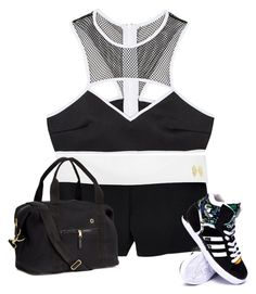 """My First Polyvore Outfit"" by alexatamarezhai ❤ liked on Polyvore featuring Victoria's Secret, H&M, This is a Love Song and adidas"