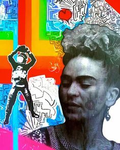 Frida Kahlo by Pleasant Art expo at Go Gallery Amsterdam, Netherlands Hippie Life, Hippie Chic, Love Art, My Love, Mexican Artists, Funky Art, Popular Culture, Naive, Folk