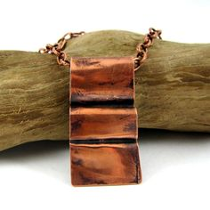 nCopper Necklace Foldformed by HCJewelrybyRose on Etsy, $23.00