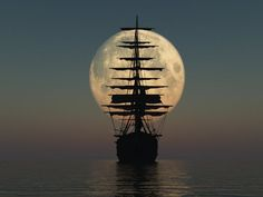 Sailing into the moon//Stunning Photographs That Will Leave You in Awe