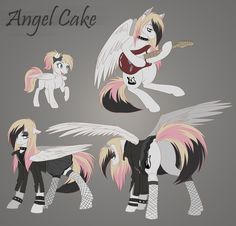 new pony oc angel cake by dennybutt, MLP