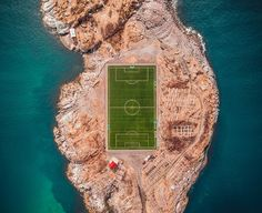 We love drone photography on UltraLinx, and rarely do aerial photos looks so good when the subject is a lush green football pitch or perfectly symmetrical Football Pitch, National Football Teams, Football Stadiums, Football Field, Football Soccer, International Games, International Football, Pictures Images, Hd Photos