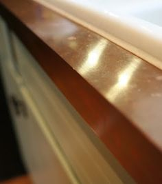 DIY copper kitchen counter tops