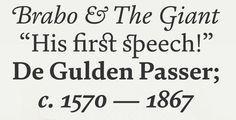 Brabo: neue Schift der Foundry Fontsmith #fonts #typo #typografie #typography von Typedesigner Fernando Mello
