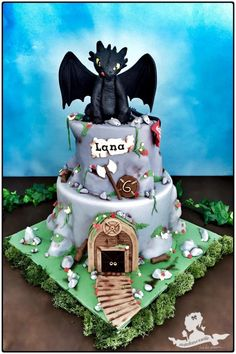 Toothless - Dragon - Cake by Mademoiselle