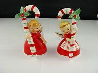 Vintage Pair Of 1956 and 1958 Napco Japan Christmas Angel Bells