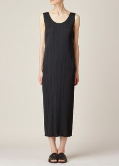 Totokaelo - Issey Miyake PLEATS PLEASE Black Tank Dress