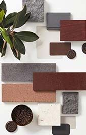 With the extensive range of Brickworks products, you can create a beautiful, long-lasting home that will give you great pleasure, comfortand durability for a lifetime. Moodboard Interior, Material Board, Colour Board, Exterior Colors, Colour Schemes, Collage, Interior Styling, Interior Design, Mood Boards