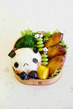 Panda rice bento
