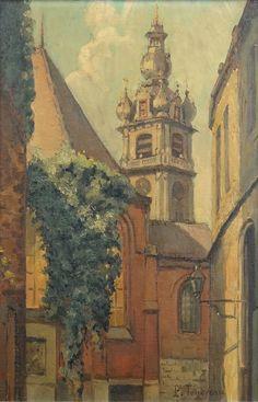 Tableau - Vue du Beffroi de Mons - TONDREAU Paul (1886, 1977)