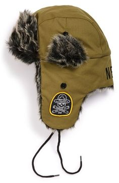 Neff 'Vlad' Trapper Hat available at Trapper Hats, Ear Warmers, Sock Shoes, Mittens, Faux Fur, Winter Fashion, Winter Hats, Handsome, Nordstrom