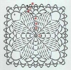 Transcendent Crochet a Solid Granny Square Ideas. Inconceivable Crochet a Solid Granny Square Ideas. Granny Square Häkelanleitung, Granny Square Crochet Pattern, Crochet Blocks, Crochet Diagram, Crochet Chart, Crochet Squares, Granny Squares, Crochet Coaster, Appliques Au Crochet