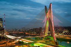 Octávio Frias de Oliveira Bridge, Sau Paulo, Brazil