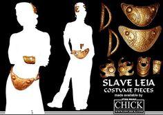 slave leia hair piece - Google Search Halloween Outfits, Halloween Costumes, Slave Leia Costume, Han Solo Leia, Princess Lea, Costume Makeup, Hair Piece, Decoration, Geek Stuff