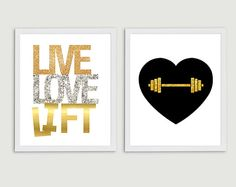 Live Love Lift Inspirational Fitness Art  Set by StephLawsonDesign