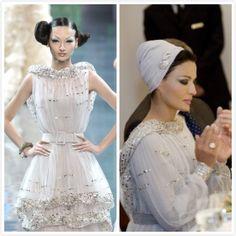 Take a close look at Sheikha Mozah`s Dior 2008 Spring Couture