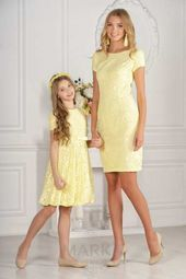 Mother Daughter Clothes Yellow Short Round Neck Short Sleeve Laced - Mother Daughter Clothes Yellow Short Round Neck Short Sleeve Laced You are in the right place about - Frocks For Girls, Little Girl Dresses, Girls Dresses, Mother Daughter Matching Outfits, Mother Daughter Fashion, Mom And Baby Outfits, Girl Outfits, Mom Dress, Baby Dress