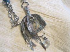 Handmade Long Boho Jewelry Gypsy Jewelry Metal by edanebeadwork, $38.00