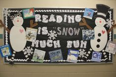 Bulletin Boards -- Reading is 'Snow' Much Fun