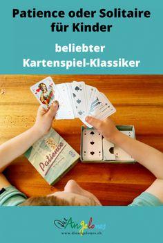 Patience bzw. Solitaire ist ein toller Spielklassiker mit Karten, den auch Kinder problemlos spielen können. Das Beste: Das Kartenspiel fördert die Geduld und die Konzentration und kann alleine gespielt werden. Wir erklären euch, nach welchen Regeln man Patience oder Solitaire spielt. #Patience #Solitaire #DieAngelones Solitaire, Patience, Happy, Kids Learning, Media Literacy, Sister Love, Learn To Read, Ser Feliz, Being Happy