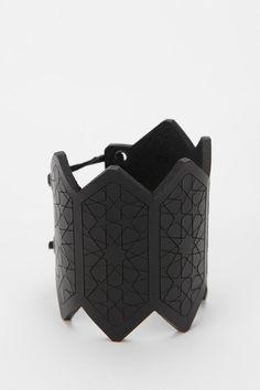 The Leather Atelier Geo Cuff Bracelet