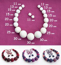 Crochet Motifs, Crochet Chart, Easy Crochet, Crochet Toys, Fabric Jewelry, Beaded Jewelry, Handmade Jewelry, Breastfeeding Necklace, Teething Beads