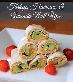 Hummus, and Avocado Roll Ups (No Bread) 100 calories 3 weight watchers point Great lunch or snack!Turkey, Hummus, and Avocado Roll Ups (No Bread) 100 calories 3 weight watchers point Great lunch or snack! Lunch Snacks, Healthy Snacks, Healthy Eating, Healthy Recipes, Work Lunches, Avocado Recipes, Keto Snacks, Ww Recipes, Lunch Recipes