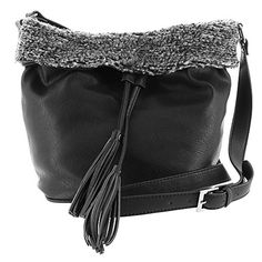 Steve Madden Womens Bdesma Mini Bucket Black Multi Cross Body ** Details can be found by clicking on the image. Womens Purses, Cross Body, Steve Madden, Bucket Bag, Mini, Image, Shoes, Black, Jewelry