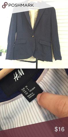 H&M Blazer Navy Blue blazer. Super cute and comfortable. Excellent condition. H&M Jackets & Coats Blazers