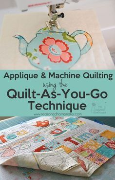 The quilt as you go technique (QAYG) simplifies quilting for beginners because it is an easy way to join quilted pieces by machine. Instead of handling bulky quilts, you will learn to quilt your project as you piece them. Quilt-as-you-go is ideal for machine appliquéd projects and this tutorial will walk you through this easy quilting method. Try it out on a simple mug rug project and you'll be hooked. #iloverileyblake #fabricismyfun