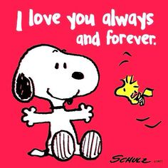 """Snoopy....""""I love you always and forever."""".....L.Loe"""