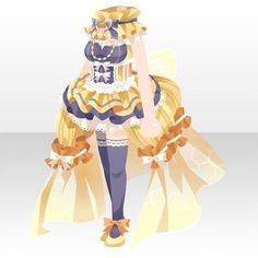 上半身/インナー ハニーハニービースタイル イエロー Kawaii Fashion, Cute Fashion, Fashion Art, Cartoon Outfits, Anime Outfits, Character Costumes, Character Outfits, Anime Uniform, Chibi Hair