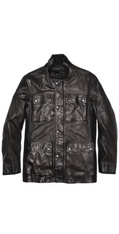 John Varvatos Star Usa Leather Military Field Jacket $898.00 - Buy it here: https://www.lookmazing.com/products/show/5248526?shrid=46_pin