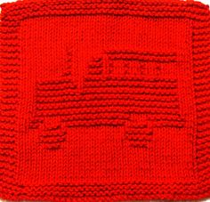 Knitting Cloth Pattern - Fire Truck by Easy Care Baby Knits, LLC, via Flickr