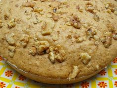 Quince Cake Recipe Desserts with flour, baking powder, eggs, brown sugar, olive oil, quinces, ground cinnamon, ground fennel, chopped nuts