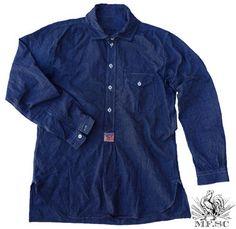 Reno Shirt Indigo Ticking
