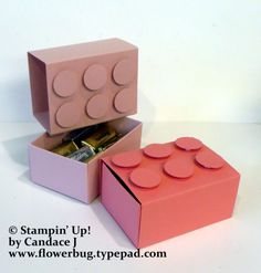 Lego Treat Boxes made with the Envelope Punch Board! | Flowerbug's Inkspot | Bloglovin'