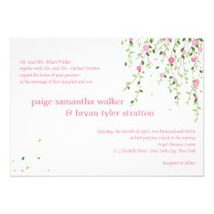 Garden Blooms Wedding Invitation // tree blooms idea// love that grows