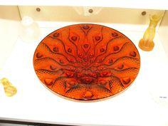 Lalique Crystal/Cristallo Red Serpentine Bowl / Coppa Lalique Serpentine red La Red, Bowl, Passion, Ebay, Art