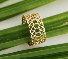delicate filigree ring