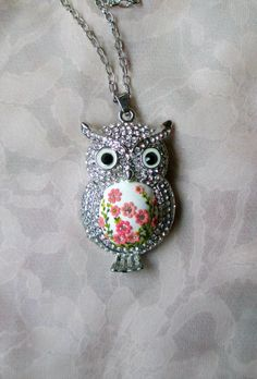 Little Owl Pendant by Lena Handmade Jewelry Spring Pendant Animal by StoriesMadeByHands on Etsy https://www.etsy.com/listing/222240491/little-owl-pendant-by-lena-handmade
